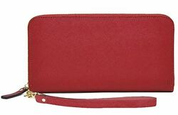 Mighty Purse Wallet Red Genuine Leather 4000mAh Phone Charger By HButler