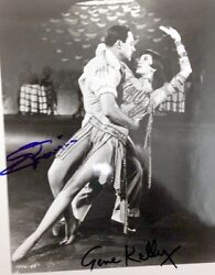 Gene Kelly Cyd Charisse  8x10 Signed Photo Old Best Signatures