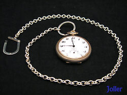 Vintage Handmade Chain Very Heavy For Pocket Watch Keys Silver 925 By Joller