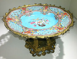 French Gilt Bronze Mounted Chinese Porcelain Compote/center-piece Circa 1890