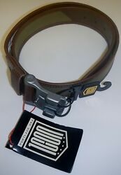 Icon 1000 Mens Elsinore Leather And Cotton Belt With Cast Aluminum Buckle