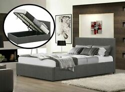 Fabric Bed Ottoman 3ft 4ft 4ft6 5ft King Double Single Gas Lift Mattress Options