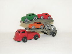 4 Vintage Diecast Barclay Classic Transport, Old Toy Cars, Old Toy Trucks, Vgc