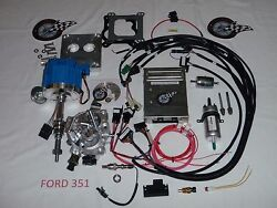 Efi Ford Fuel Injection System Complete Tbi-for Stock Small Block Ford 351 5.8l