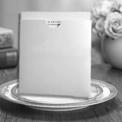 Frost White Pocket Wallet Invites Embossed White Envelope Card And Paper Inserts