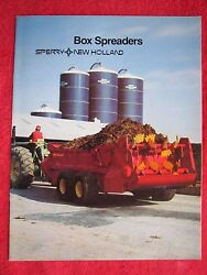 1983 Sperry New Holland Box Manure Spreaders Full Line 16 Page Brochure