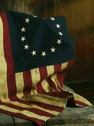 Large 32 X 58 Aged Betsy Ross Americana Flag -- 100 Cotton