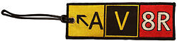Av8r Taxiway Sign - Embroidered Flight Crew Luggage Tag By Pilot Expressions