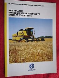 1995 New Holland Tc54 And Tc56 Combine 20pg Brochure French Text