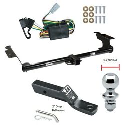 Trailer Tow Hitch For 99-04 Honda Odyssey Complete Package W/ Wiring 1-7/8 Ball