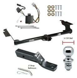 Trailer Tow Hitch For 05-10 Honda Odyssey Complete Package W/ Wiring 1-7/8 Ball