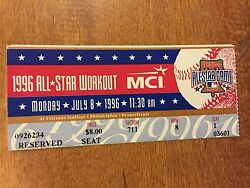 Philadelphia Phillies 1996 All-star Game Workout Ticket Stub At The Vet