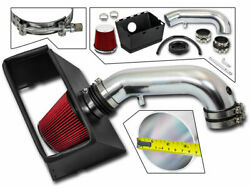 Cold Heat Shield Air Intake + Red Filter For 09-18 Ram 1500 5.7l V8