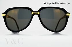 Sunglasses Cartier Vitesse  Vintage Black Color NOS Very Rare News Kanye West