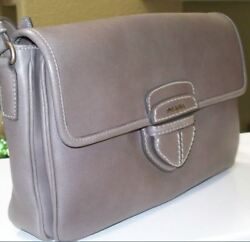 $1800 City Calf Calfskin Satchel Argilla Grey ShoulderCrossbody bag GORGEOUS!