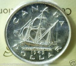 1949 Canada 1 Silver Dollar Iccs Certified