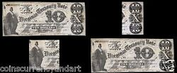 Hoyer And Ludwig Rarity 6 1861 10 Currency Richmond Usa Free Shipping