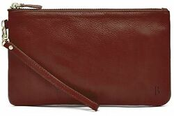 Mighty Purse Wine Red Genuine Leather Cell Phone Charger By Handbag Butler