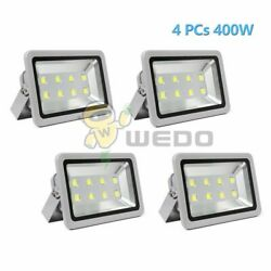 4 Pcs 400w Ip66 Ultra Bright Led Flood Light Path Outdoor Waterproof 85-265v