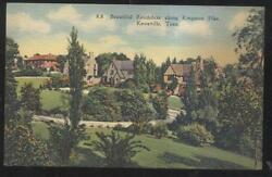 Postcard Knoxville Tennessee/tn Kingston Pike Area Family Houses/homes 1930and039s