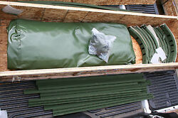 Camo 2 1/2 Ton Military Truck Cargo Cover Kit M35 M35a2 M35a2c M35a3 12and039 Nos