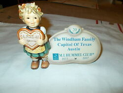 M.i. Hummel Plaque The Windham Family Austin Texas Only 1 Made Mint Condition