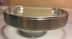 .925 Sterling Silver Brushed Finish Cuff Bracelet- Free Shipping