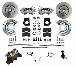 1970-73 Ford Mustang Cougar Disc Brake Conversion Kit Stainless Steel Pistons