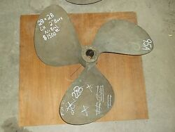 28 Inch 28 Pitch Nibral 3 Blade Propeller Lh 2 Inch Bore - 95a