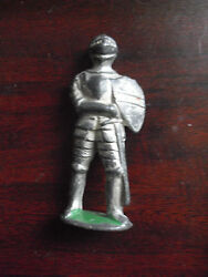 Vintage 1940s Metal Barclay Toy Soldier In Mideval Armour 3 Tall