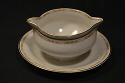 Theodore Haviland China Schleiger 169a Gravy Boat With Plate Limoges France