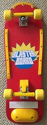 80's Vintage Mint Complete Chicago Blaster Skateboard Wall Art Yellow Red Trucks