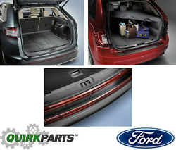 OEM NEW Rear Cargo Area Protector + Privacy Shade + Bumper Guard 15-17 Ford Edge