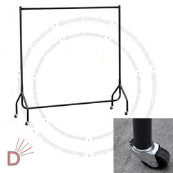 Clothes Dress Hanging Display Portable Stand Rack Heavy Duty 4ft Rail