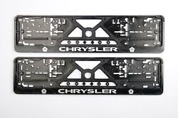 2x Chrysler All Model Exclusive European License Number Plate Surrounds Holders