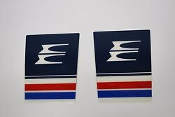 Pair Evinrude Outboard Hood Emblems 209588