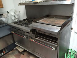 Garland Commercial Gas Stove 6-burner With Double Oven, Broiler, And Griddle