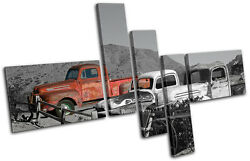 Graffiti Decay Desert Vintage Old Cars Rustic Canvas Art Picture Print Photo
