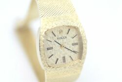 Ladies Vintage Rolex Dress Watch 14k Yellow Gold With Manual Movement Beautiful