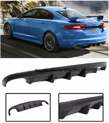 Xfr-s Style Rear Lower Bumper Aero Air Flow Diffuser Kit For 12-up Jaguar Xf