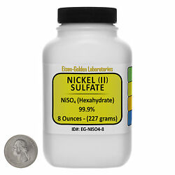 Nickel Sulfate [niso4] 99.9 Acs Grade Crystals 8 Oz In A Space-saver Bottle Usa