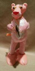Pink Panther Swaying Cymbal Playing Wind Up Rare Vintage Toy.