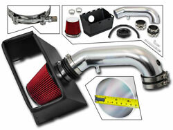 Cold Heat Shield Air Intake + Red Filter For 09-18 Ram 2500 5.7l V8