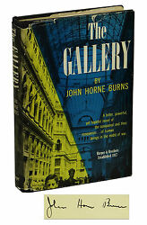 The Gallery By John Horne Burns Signed First Edition 1947 Gay War Wwii 1st