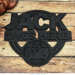 Jack Daniels Old No. 7 Jack Lives Here Entry Door Mat - Tennessee Whiskey