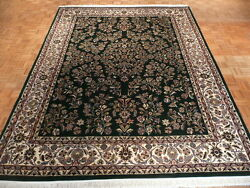 9 X 12 Hand Knotted Green Persian Fine Royal Sarouk Design Oriental Rug G277