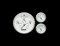 Classic Instruments 1957 Chevy WHITE Gauges Instrument Cluster + Clock '57