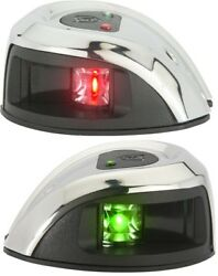 Attwood Lightarmor 1nm Led Stainless Steel Bow Navigation Lights Pair Nv1011ss