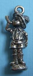 Vintage Large Reed And Barton Hummel Boy With Horn Silver Plate Charm