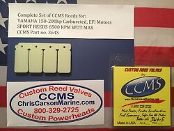 Ccms Yamaha Sport Outboard Reed Valve 150-200hp And 220hp Carb And Efi Pn364s